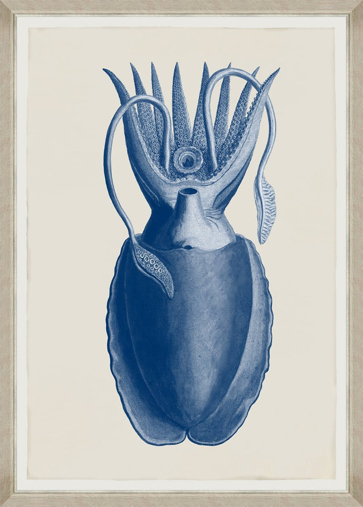 Wall Art - Cuttlefish Blue by Seba