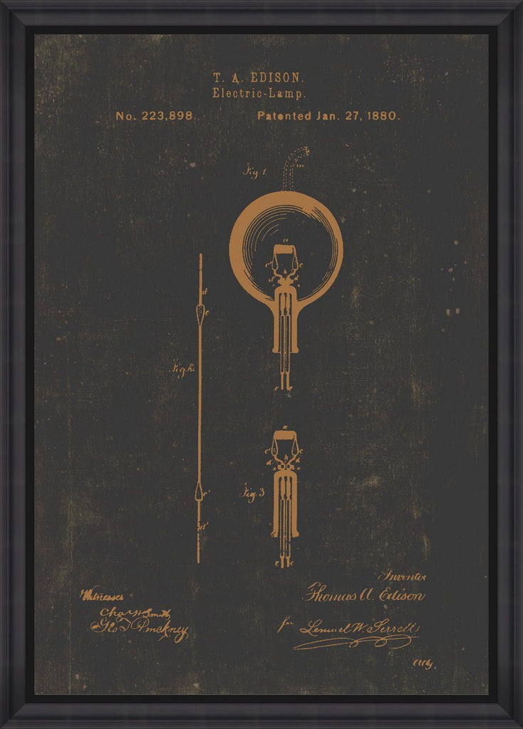 Wall Art - Edison Bulb