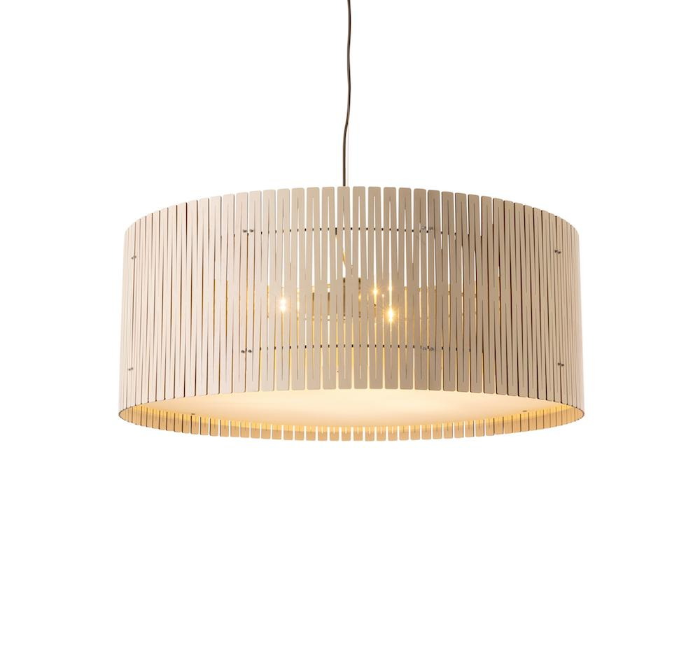 Kerflight D9 Pendant Light White-Wash