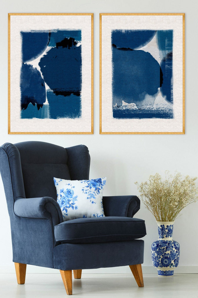Wall Art (Linen) - Indigo Marvel II