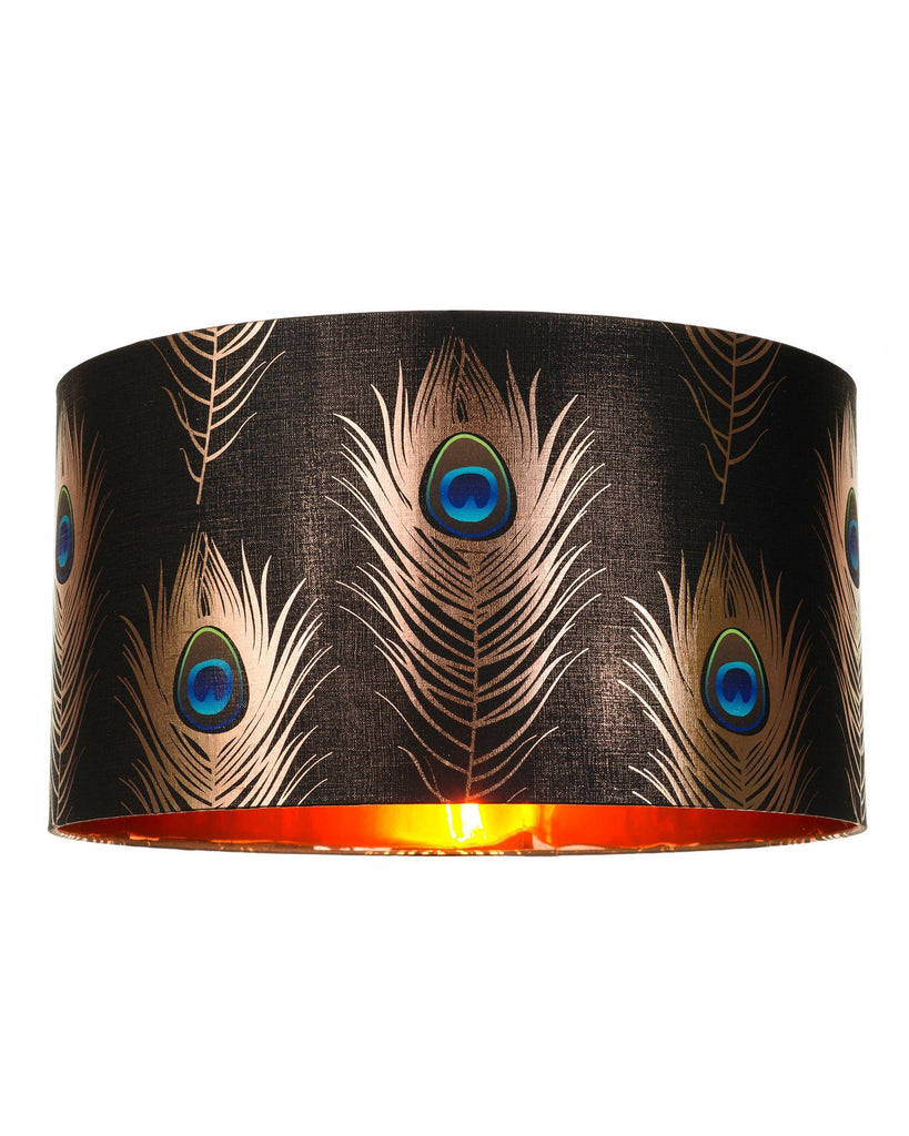 Peacock Feathers Drum Shade | Banbayu