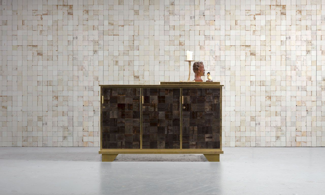 Wallpaper - Mosaic Squares White by Piet Hein Eek