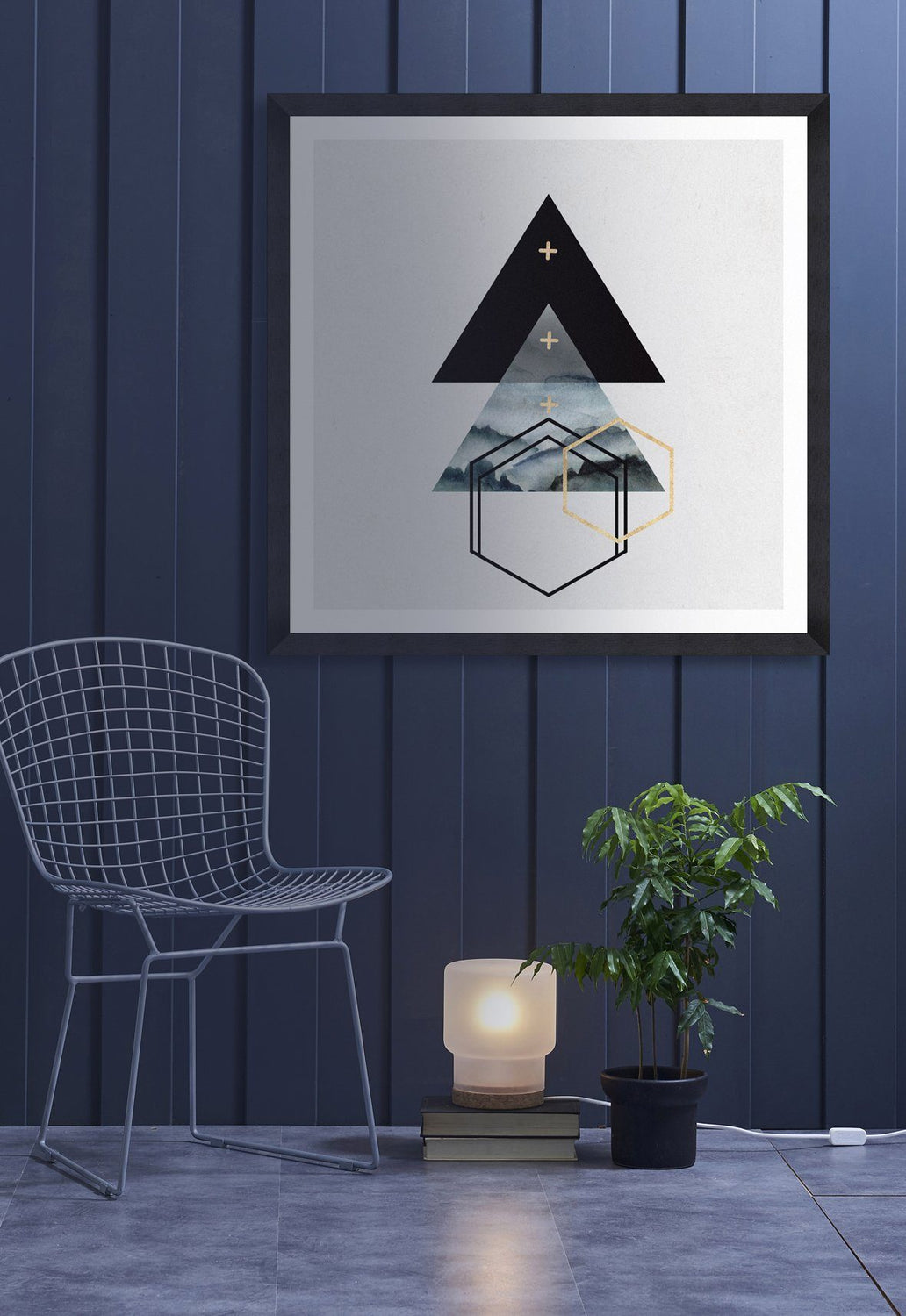 Wall Art - Triangles I