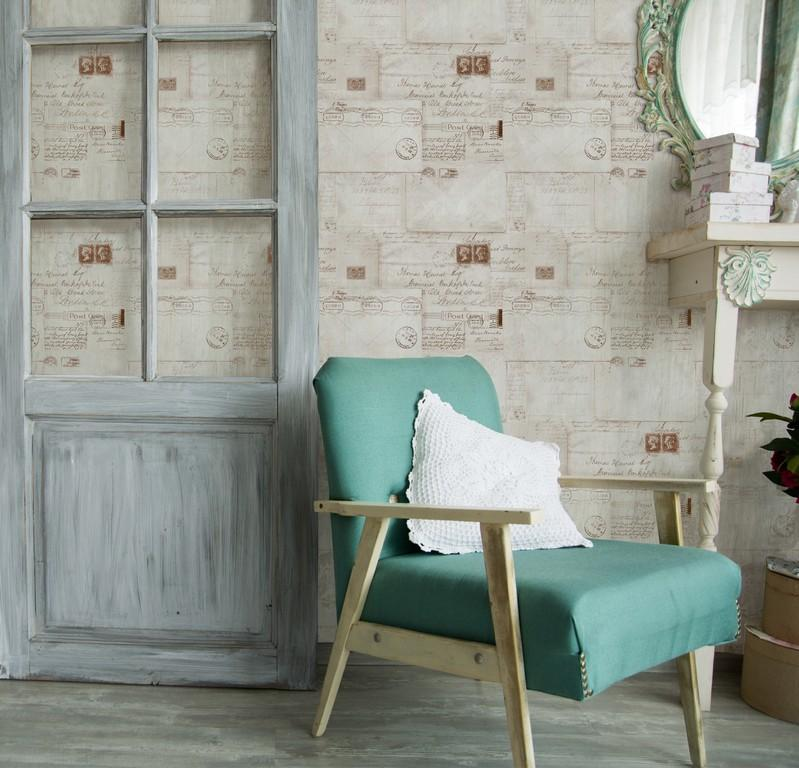Wallpaper - Vintage Letters Neutral
