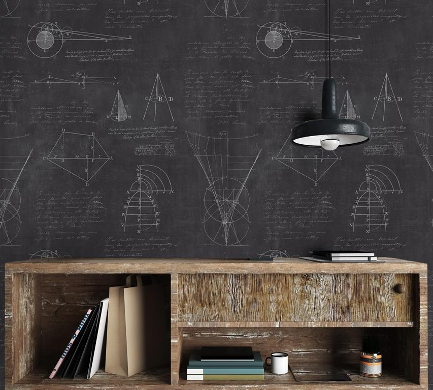 Wallpaper - Newton Geometry Anthracite