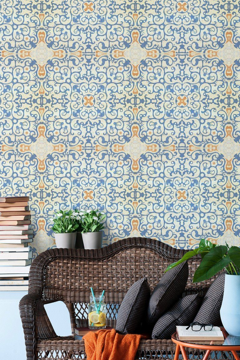 Wallpaper - Spanish Tile