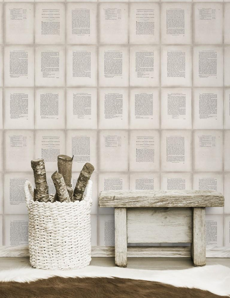 Wallpaper - Inside Book Taupe