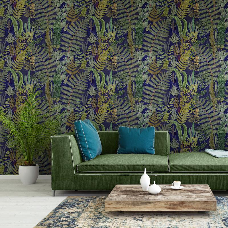 Green Sanctuary Anthracite - Mind The Gap Wallpaper
