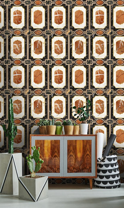 Waldorf Ochre - Mind The Gap Wallpaper