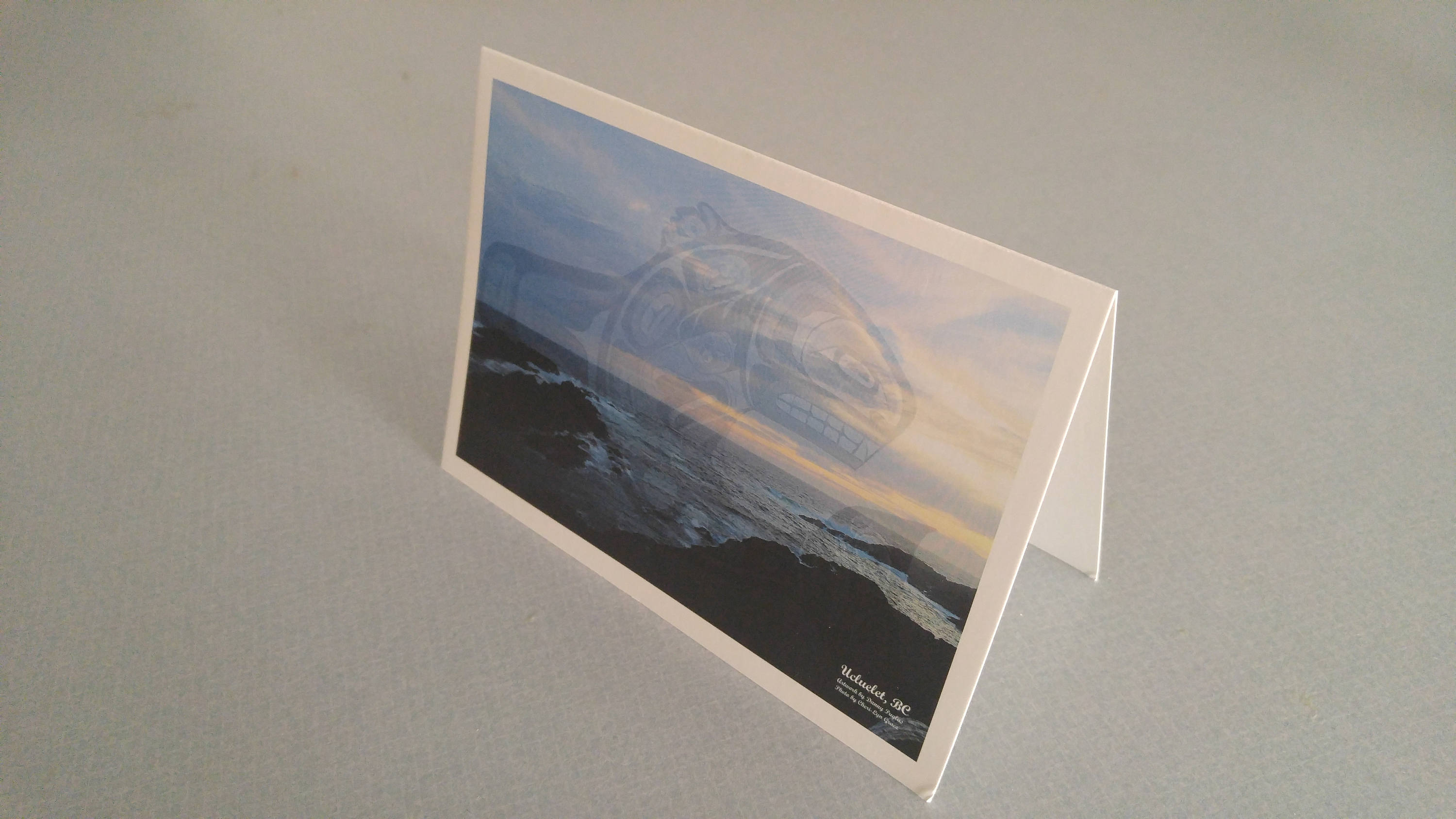 Ucluelet Sunset Whale Original Photography Artwork Greeting Cards