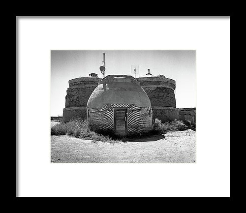 Earthship - New Mexico - Framed Print