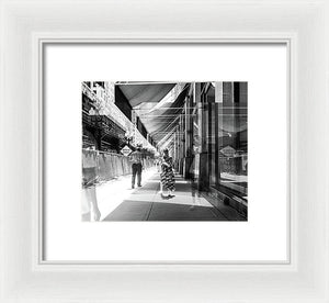 Ghosts Of Summer Shoppers - Framed Print