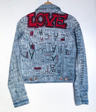 Giacca Jeans LOVE/HATE Artwork TgM