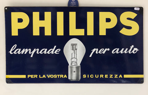 Insegna Philips smaltata 70's