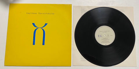 LP KING CRIMSON THREE OF A PERFECT PAIR POLYGRAM ITALIA 817882-1 ANNO 1984
