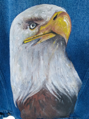 Giacca jeans USA 90's Artwork Eagle TGXL
