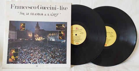 LP FRANCESCO GUCCINI LIVE FRA LA VIA EMILIA E IL WEST
