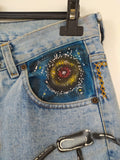 Jeans Handprint Lakota Tribute