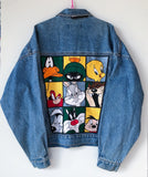 Giacca jeans Warner Bros 90's Tg XL