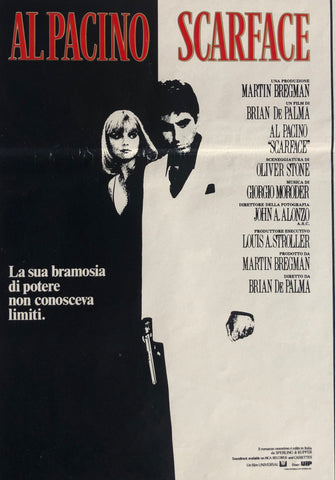 Locandina Scarface 1984 Italy Press