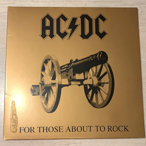 LP FOR THOSE ABOUT TO ROCK - AC/DC