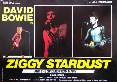 Fotobusta Ziggy Stardust Italy Press 1972