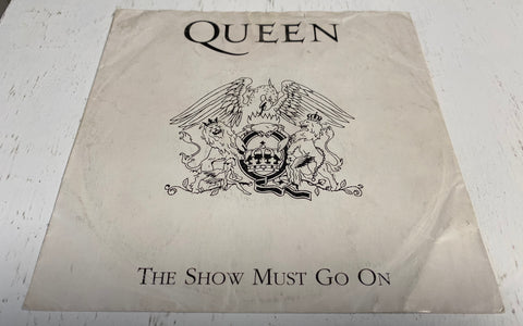 "45 GIRI 7"" QUEEN THE SHOW MUST GO ON 1994 NUMBERED RED EMI ‎– 8 81475 7 ITALY ITALIA"