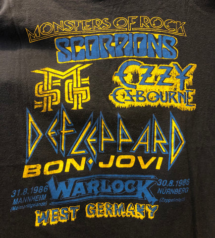 T-Shirt Monsters Of Rock 1986