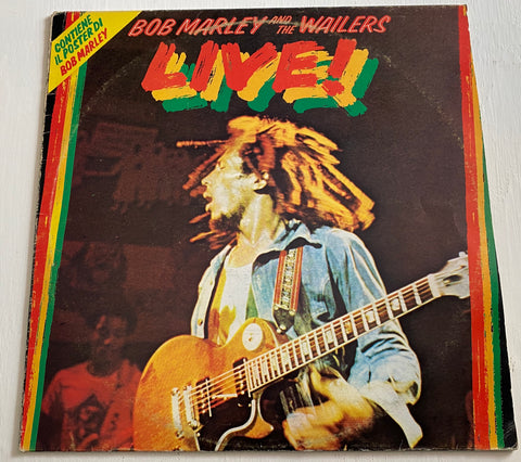 LP BOB MARLEY AND THE WAILERS -LIVE! ANNO 1975 ITALY PRESS