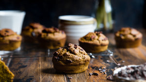 Enlightened Banana Chocolate Chip Muffins