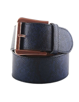 CRUELTY FREE BELT INDIGO/ROSE GOLD