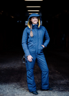 Hooded Winter Insulated Jumpsuit - Blue Nights