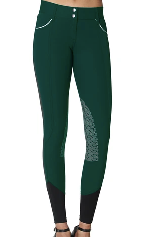 ELARA KNEE PATCH BREECH- EMERALD