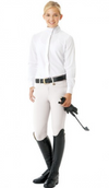 Celebrity EuroWeave™ DX Euro Seat Front Zip Knee Patch Breeches - Child's
