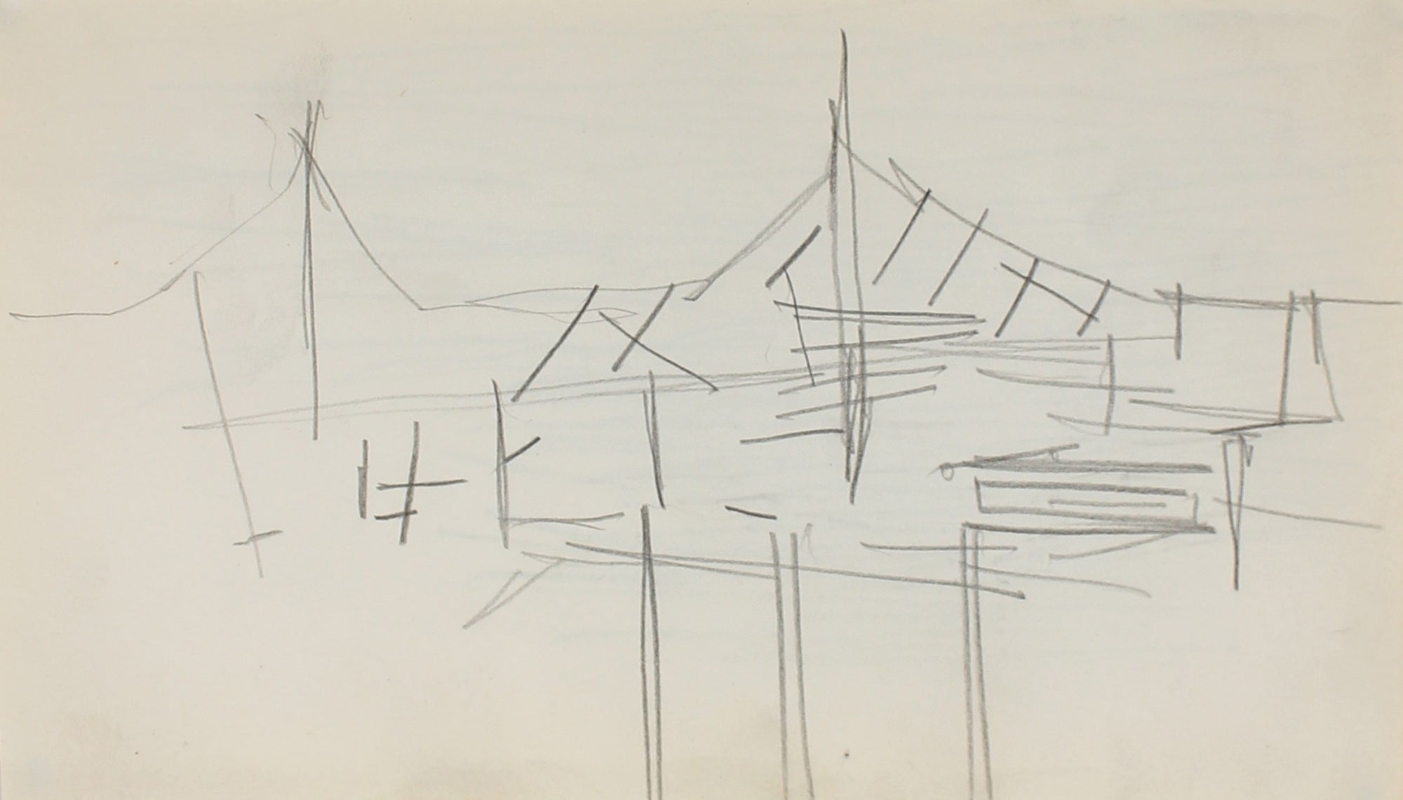 Houses, Deconstructed<br>Graphite, 1959<br><br>#0219
