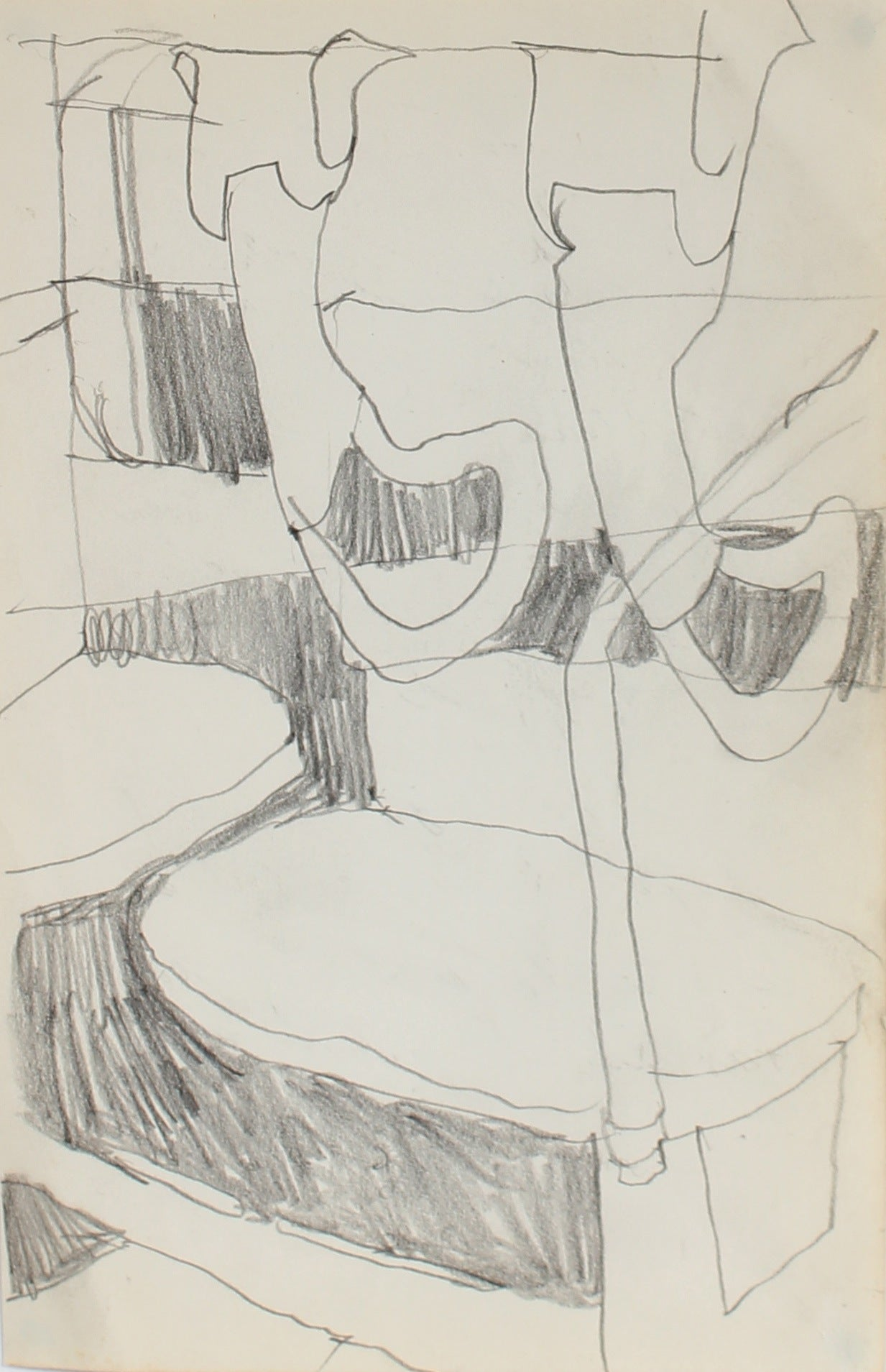 Subway Abstraction<br>Charcoal, 1959<br><br>#0242