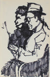 Subway Studies, New York<br>Pen & Ink, 1959<br><br>#0247