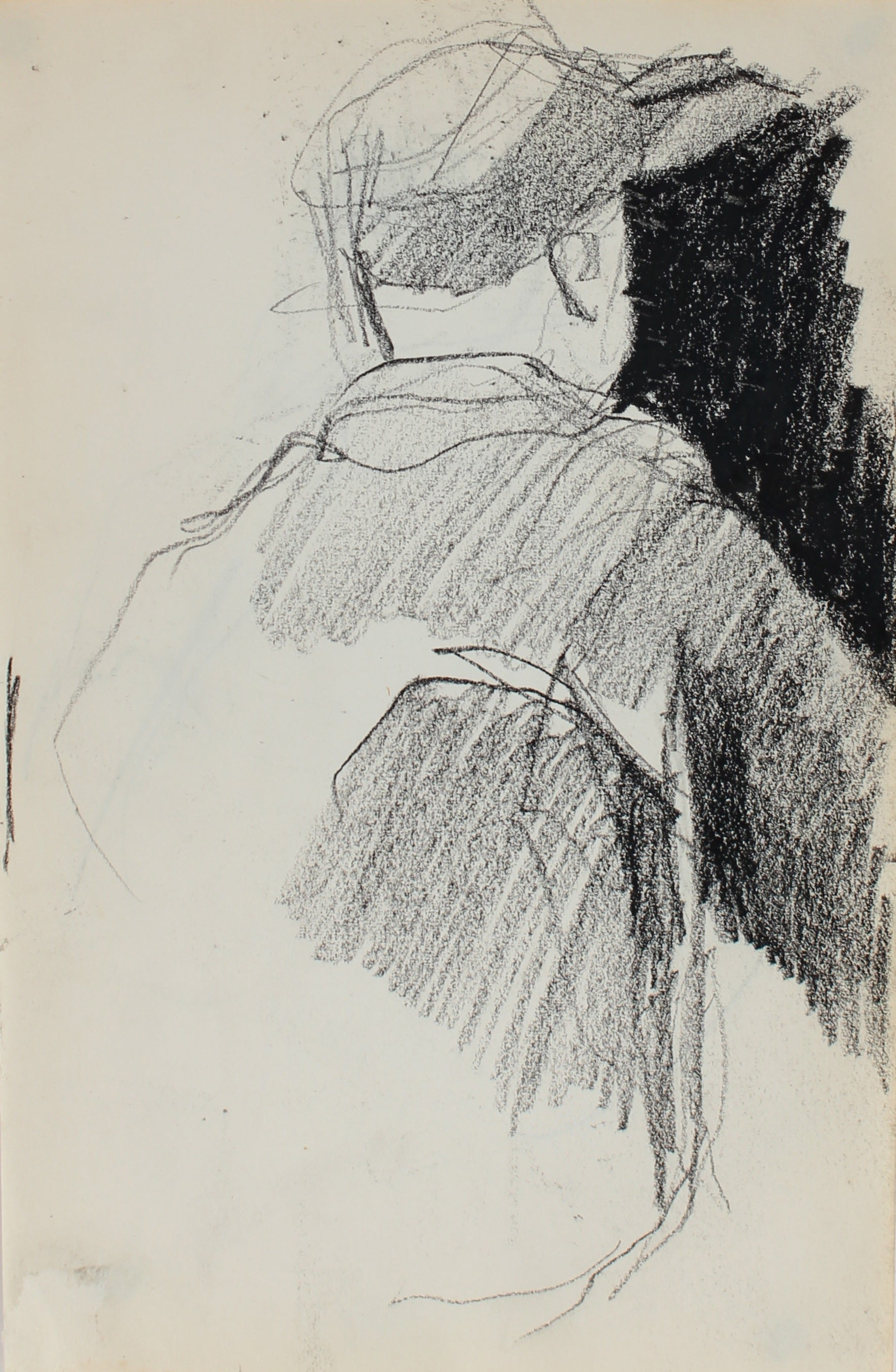 Shadowy Figure Study<br>Charcoal 1950-60s<br><br>#0284
