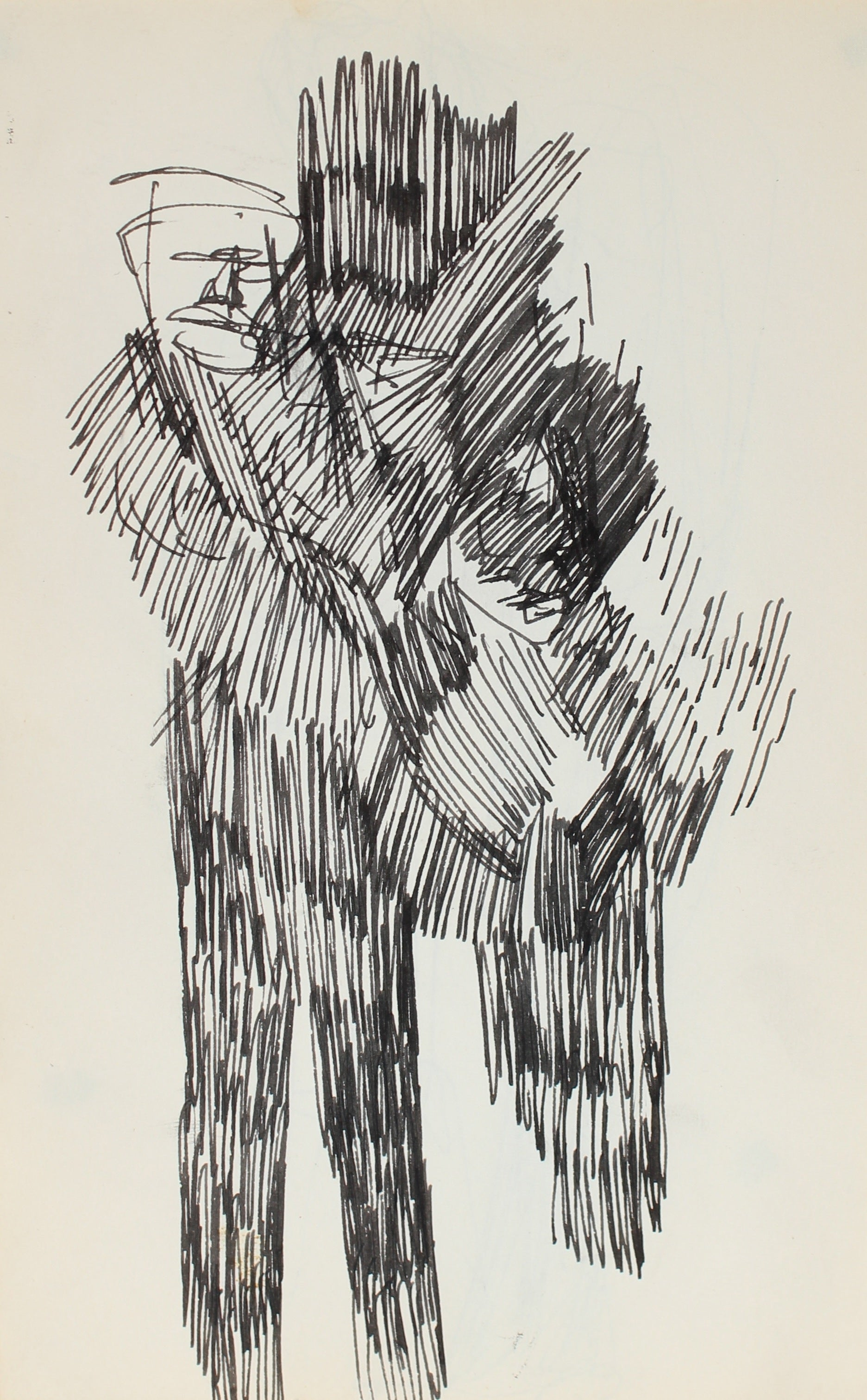 Shadowy Abstracted Couple<br>Ink, 1950-60s<br><br>#0352