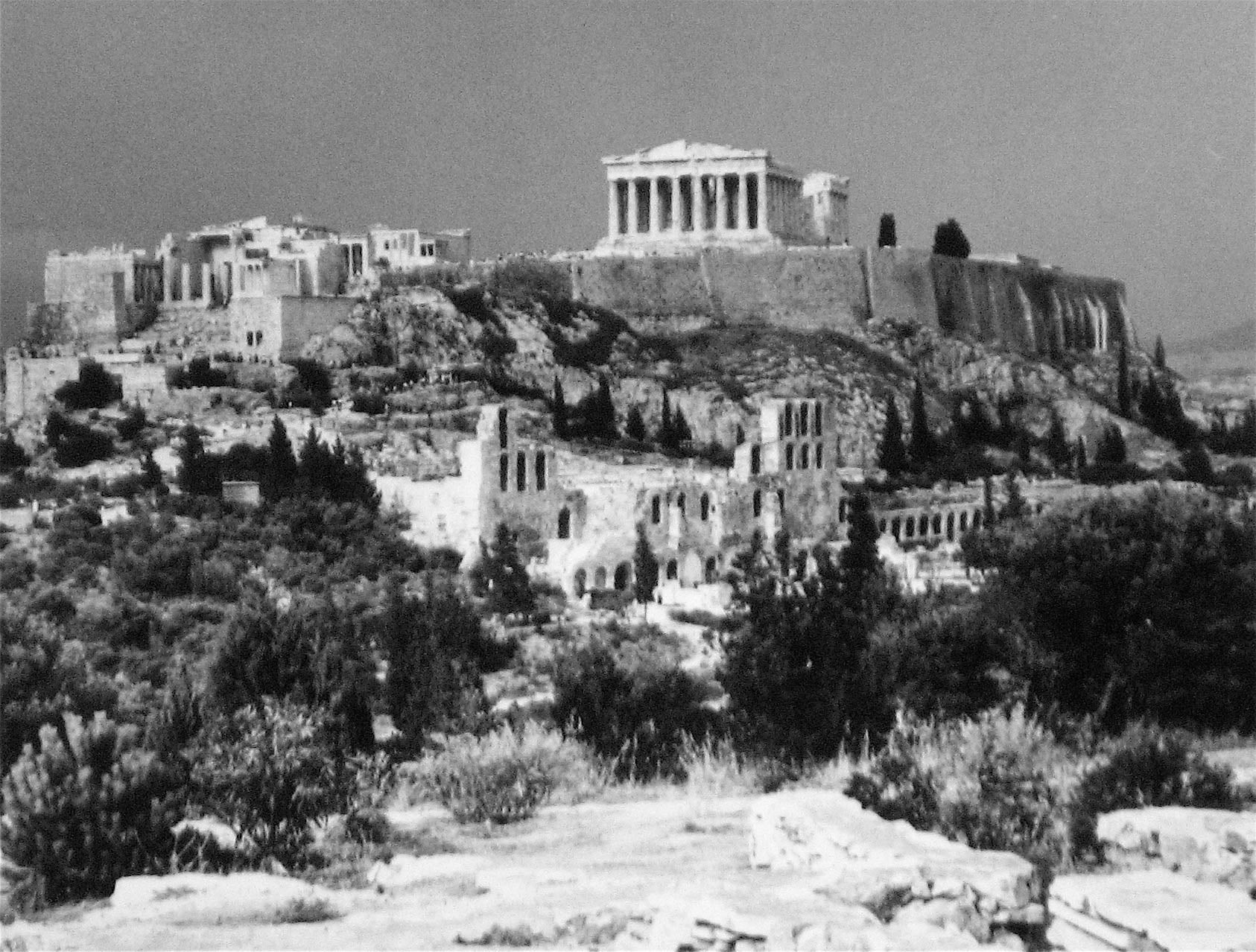 View of the Acropolis<br>1960s Silver Gelatin Print<br><br>#12113