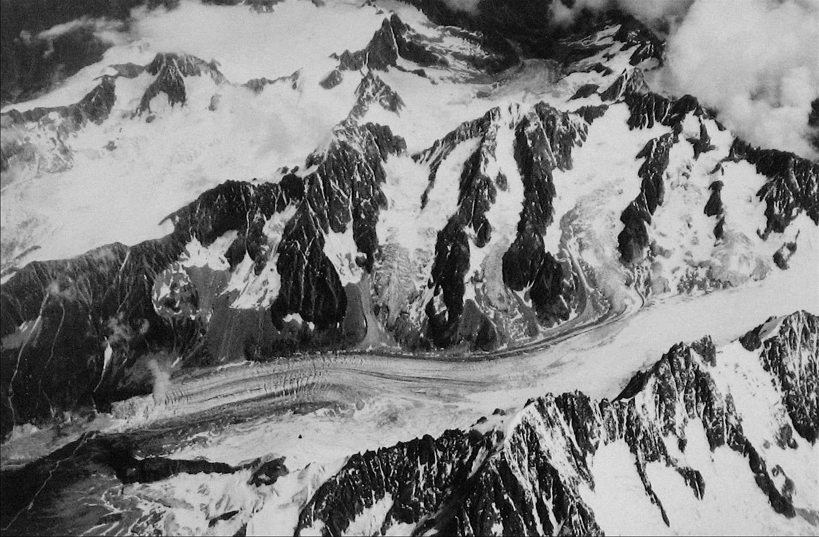 Scene of the Alps, Switzerland<br>1960s Silver Gelatin Print<br><br>#12147