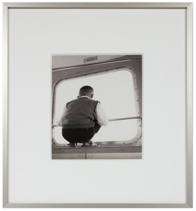 Boy on the Train, Switzerland <br>1960s Silver Gelatin Print <br><br>#12150