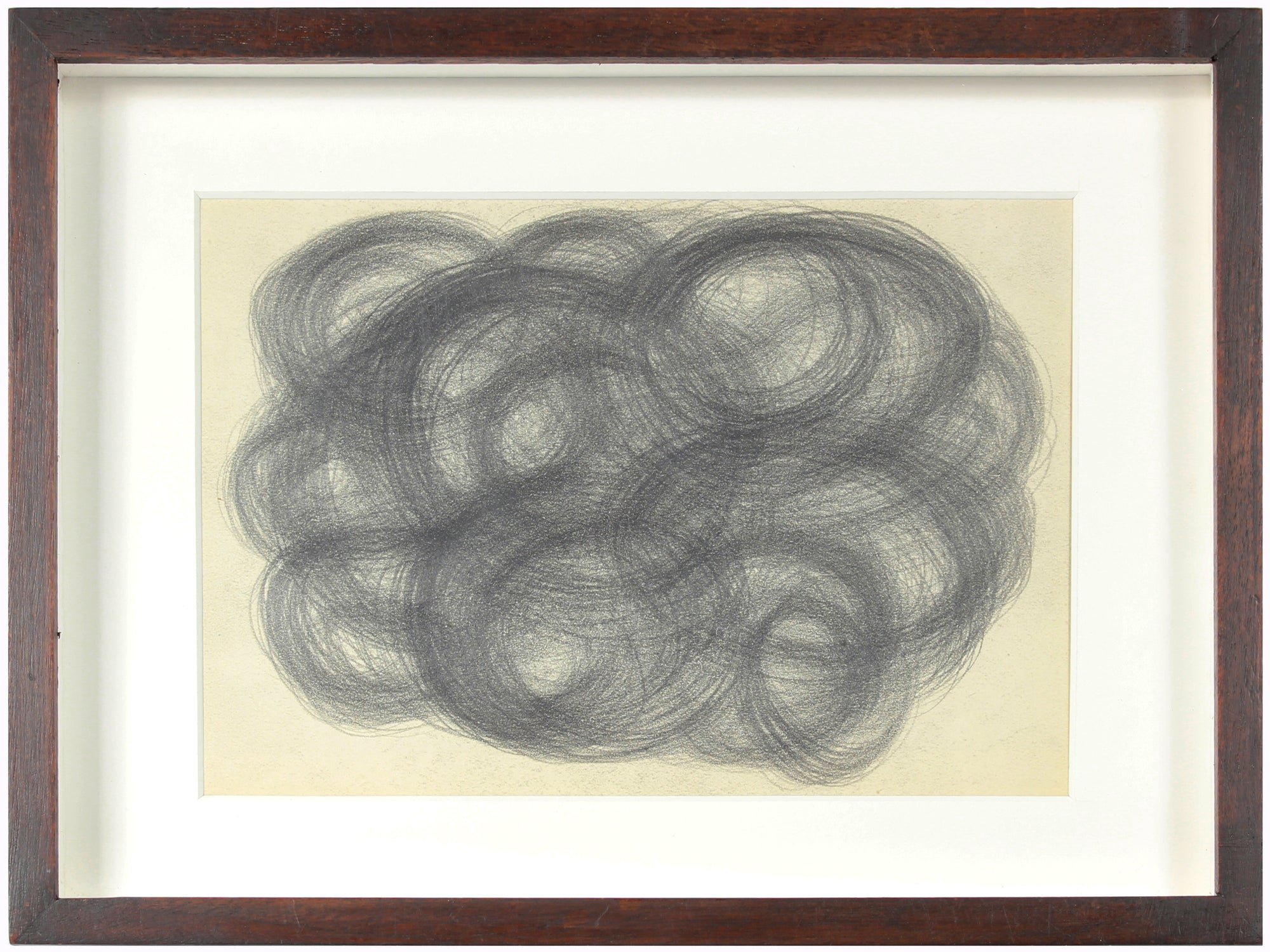 Expressionist Swirls & Circles <br> Early-Mid 20th Century Graphite <br><br>#13879