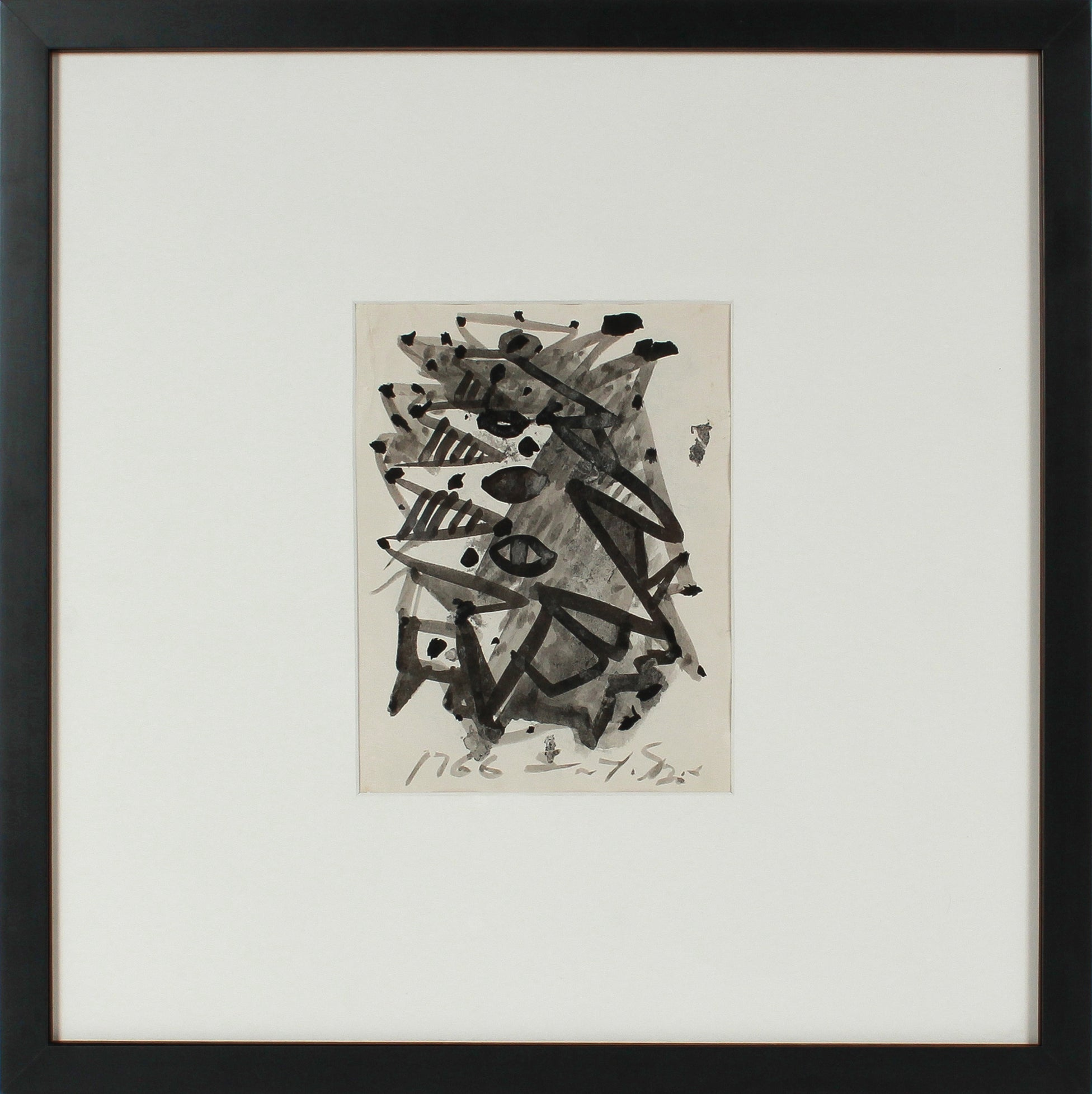 Angular Abstraction <br>Mid Century Ink Wash <br><br>#14784