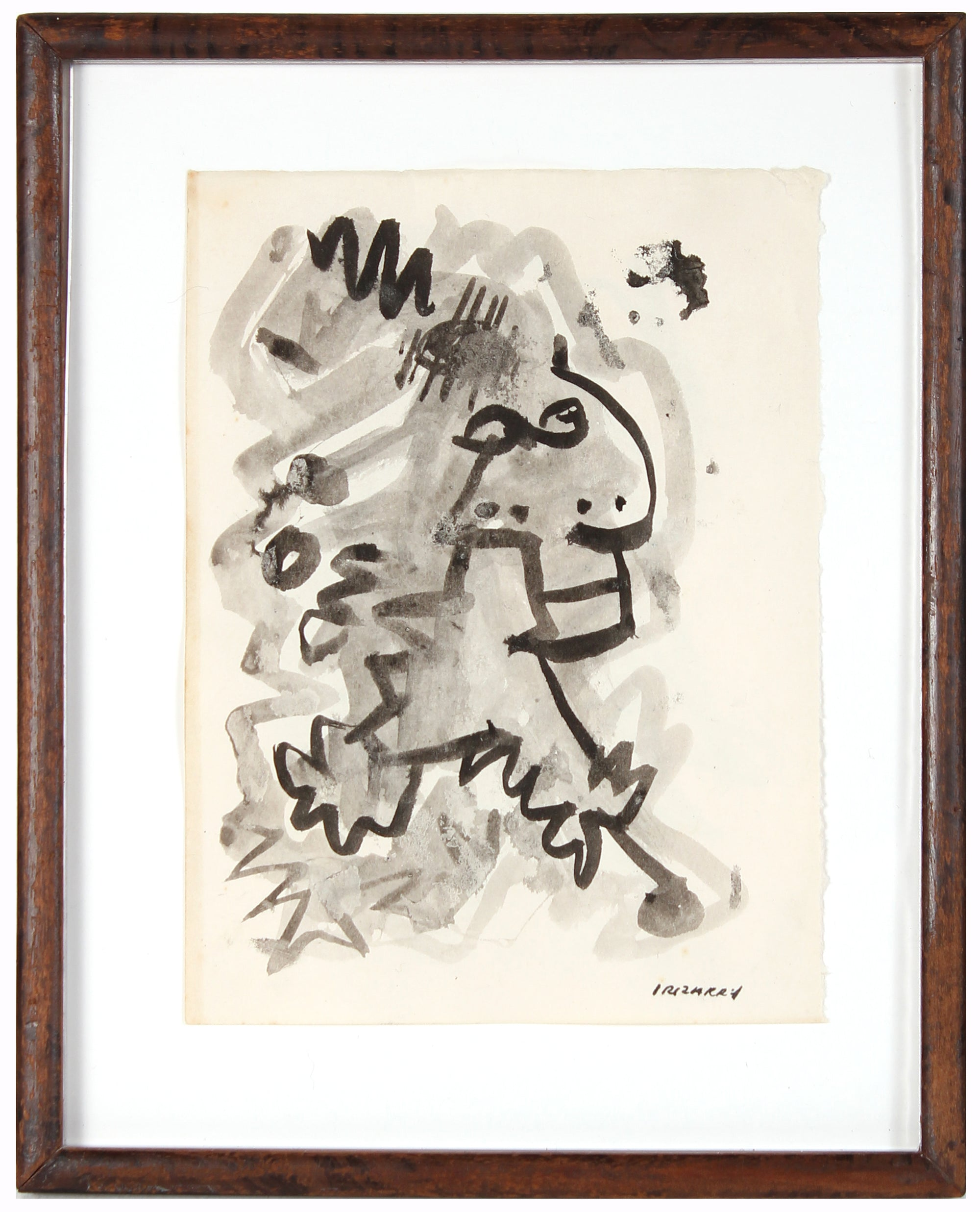 Deconstructed Abstract Figure<br>Mid 20th Century Ink on Paper<br><br>#14830