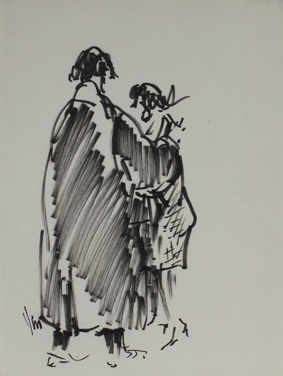 Abstracted Couple<br>Felt Pen, 1960s<br><br>#16207