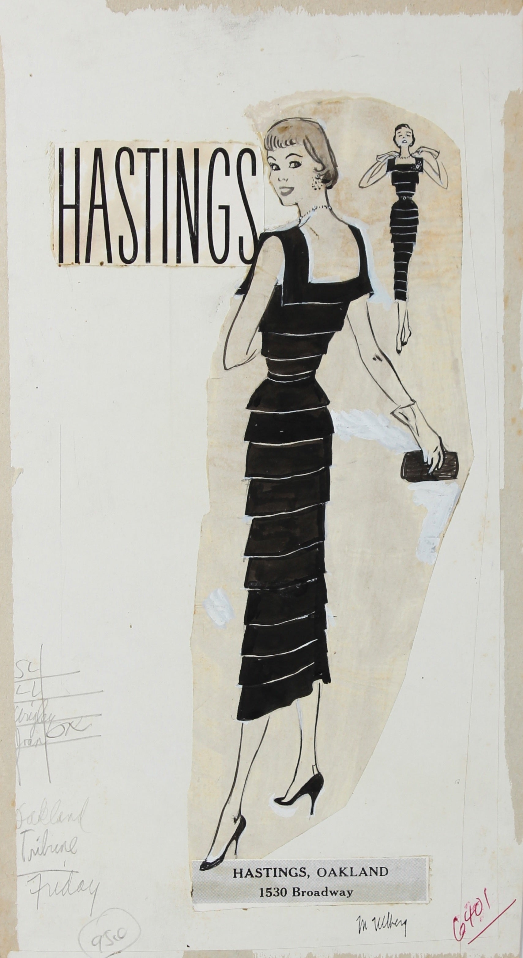 <i>Hastings</i><br>Gouache, 1946-54<br><br>#18592