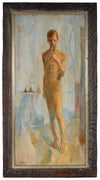 <i>Youth</i><br>Mid Century Oil on Masonite<br><br>#19015