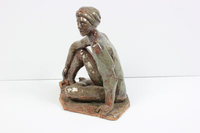 Relaxed Male Nude<br>2005 Clay on Wood<br><br>#20258
