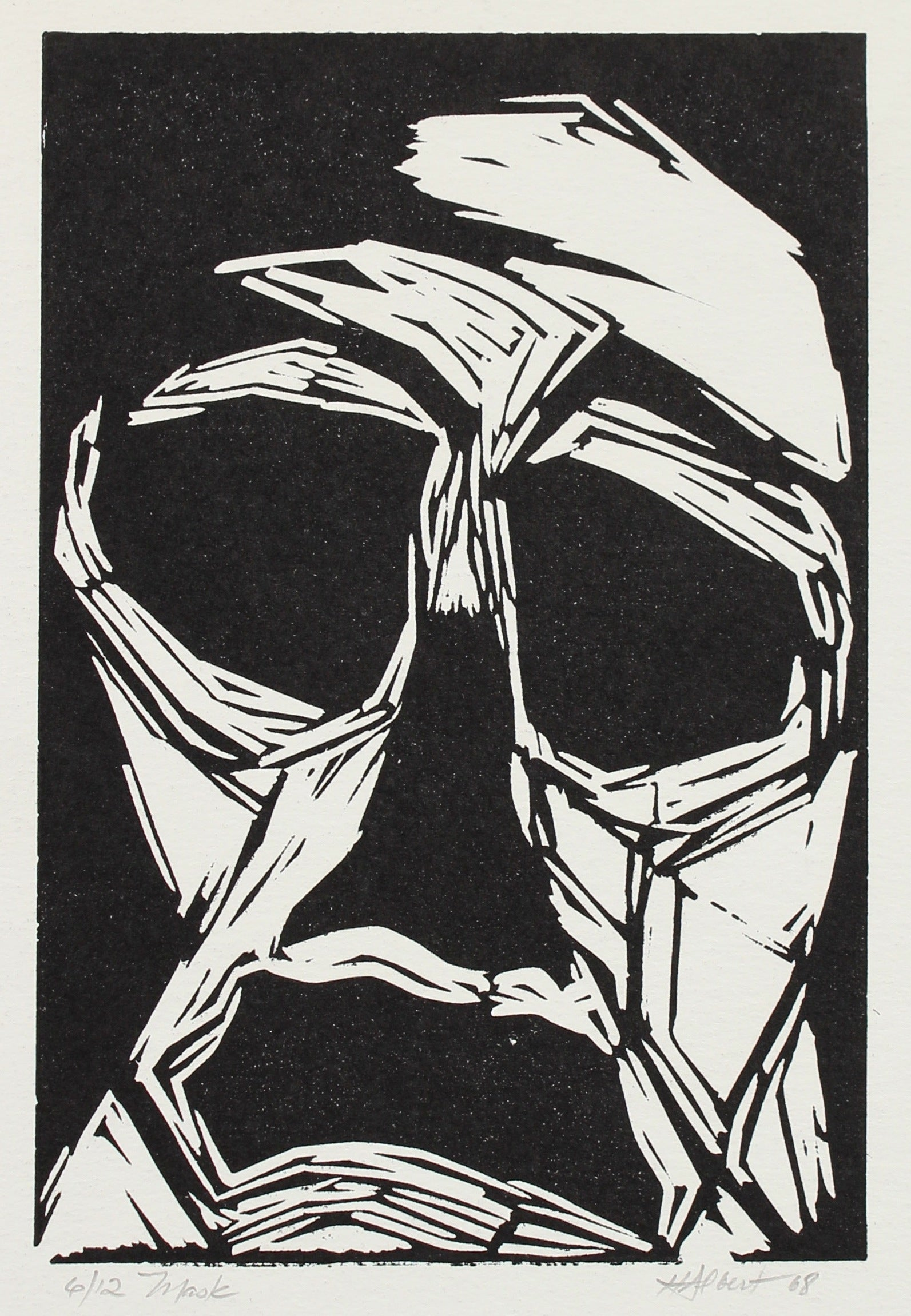 <i>Mask</i><br>1968 Wood Block<br><br>#2149A
